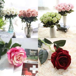Flannelettes Gül Artificials Çiçek İyi E2 4ff Çiçekler Eller Düğün Ev Mobilya Dekorasyon sanat ve el 2 Kurutulmuş Looking