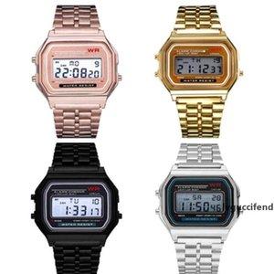 Multifunction WR F91W F-91W Fashion Ultra-thin Watches metal watchband LED Change Watch Sport A159W Men Women Sport Watches Watch 4 Colors