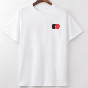 남성 T 셔츠 2020 패션쇼 색상 대비 인쇄 폴로 T 셔츠 반팔 남성과 여성 스타일리스트 고품질 힙합 티셔츠