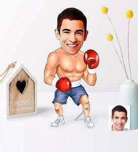Personalized Men Boxer Cartoon Wooden Trinket-1 Pet Supplies Home Garden