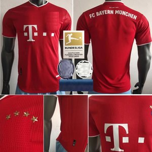 2020 2021 Bayern Munich Joueur de football Version MULLER Accueil Jersey 20 21 football shirt LEWANDOWSKI football uniforme
