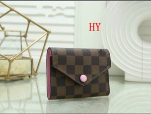 2020 new bag Free shipping billfold High quality Plaid pattern women wallet men pures high-end designer wallet