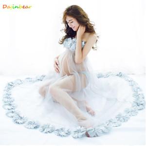 Abiti da maternità per Servizio fotografico Maternity Fotografia Props Gown per i vestiti incinta gravidanza Donne Fotografia