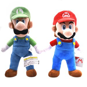"2Styles Big Size 15""37cm Super Mario Bros Standing Mario&Luigi Plush Dolls Toy Stuffed Soft Supermario Peluche Doll Kids Gifts S200113"