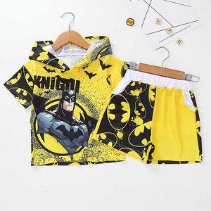 Kids Boys Clothes Set Summer Hoodie T-shirt + Pants 2PCS Outfit Children Clothing Sport Suit Tracksuit