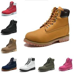 Miglior pelle stivali invernali donne degli uomini del legname Premium Contrasto Stivali bassi di base collare sistema esterni impermeabili