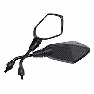 دراجة نارية العالمي مع 8MM الموضوع / 10MM تعديل مرآة الرؤية الخلفية الجانبية مرآة محدبة 73tV #