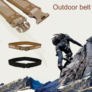 Cinture Tactical Belt Uomo dell'esercito resistente tela di canapa tattici esterni cintura regolabile caccia di emergenza Rigger di sopravvivenza
