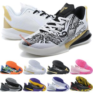 Bryant Mamba Fury Low Men Basketball Shoes 2020 Designer BHM Black Metallic Gold White Laker Aunt Pearl Outdoor Sports Shoes Size 40-46