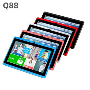 Fashion Kids Tablet PC 7 pollici Q88 Android 4.4 512mb + 4 GB Allwinner A33 Quad Core Google Player Bluetooth Wifi