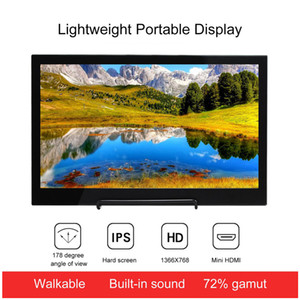 display 13.3 inch Portable Monitor HDMI 2560*1440dpi HD IPS Display Computer LED Monitor with Leather Case for PS4 Pro Xbox Phone