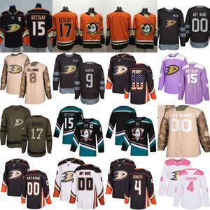 Mens 25 personalizado qualquer nome faz Número de laranja da bandeira dos EUA Roxo luta o cancro Prática Salute rosa 100 Camo Anaheim Ducks Hockey Jerseys