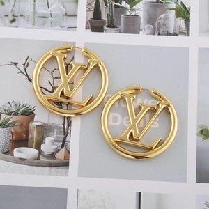 Pendientes del aro de las mujeres Amor diseñador de moda de joyería de la boda del perno prisionero 316L de acero de titanio pendiente de oro rosa de plata