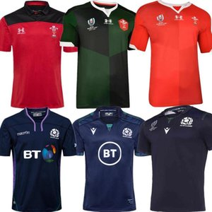 La mejor calidad 19 20 2021 camisetas de rugby de Gales Inicio nueva Escocia 19 20 Liga Nacional de Rugby de Gales camisetas de rugby rojos para hombre talla S - 3XL