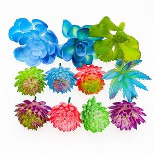 11pcs artificial Echeveria suculento de falsos conjunto Cactus Faux tallos suculentos Disposición Bonsai plástico decorativo floral desierto j9jt #