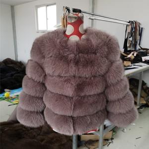 LaVelache 2020 Nueva real del abrigo de pieles 100% Chaqueta de piel natural invierno de las mujeres del chaleco delgado de la manera Outwear Streetwear