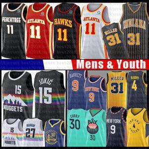 Trae Nikola Giovane Jokic 15 11 Basketball Maglia Stephen Curry 30 RJ Victor Barrett Reggie Miller Oladipo Jamal Murray DeAndre 12 Hunte Hawk