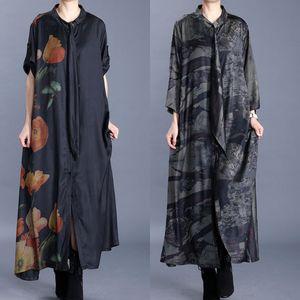g1omA 2020 Spring National Stil Kleidung der Frauen Seide Halbarm Strickjacke langen Außen Ethnic Spiel Group 2020 Spring National Artfrauen