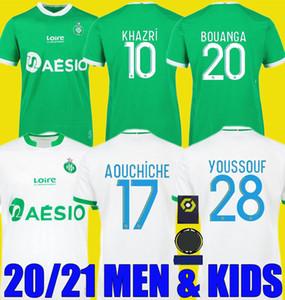 2020 2021 Maillot de pie como Saints-Étienne Soccer Jersey Man Kit Kit YouSsouf 20 21 St Etienne Khazri Boudobouz Aholu ASSE Camisa de Fútbol