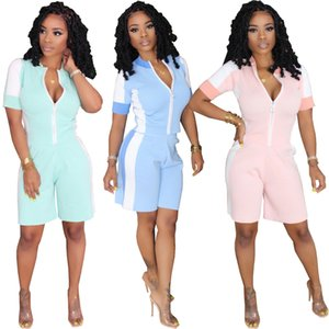 Short Sleeve Tracksuit T-shirt+pant Women's Two Piece Set Color Matching Casual Sexy Sport Suit Trend Ladies Suits