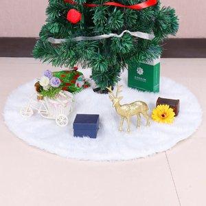 Горячая продажа Рождественская елка юбки 122CM белый плюшевый ковер Рождественская елка юбка Base Напольный коврик Обложка Xmas украшения
