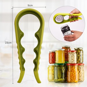 New 7 color can opener household soft non slip bottle opener creative multifunctional four-in-one bottle opener