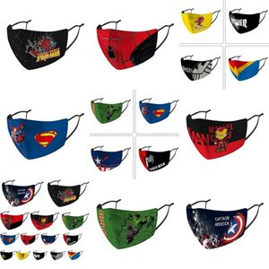 Masques pas cher visage Capitaine Designer visage Kids Mask Riding Protection froide Amérique Masque Capitaine Bouclier Punisher Marvel Deadpool garden2010