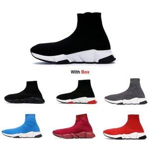 2020 Triple S Noir Chaussures Speed Trainer chaussures de course espadrille avec boîte gros prix