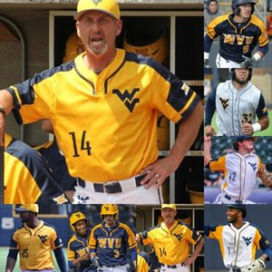 West Virginia Mountaineers Baseball Stitched Jersey Kade Strowd Aleque Manoah Marques Inman Ivan Gonzalez Tyler Doanes Darius Hill WVU Jerseys