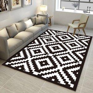 2020 Offerta Speciale Promozione Casa E geometrico modello Carpet Trend 3d Rugs Carpets Tavolino Yoga Sofa antiscivolo Tappetino