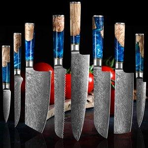 Coltello Chef Damasco Steel 67 Layer VG10 PROFESSIONALE COLTELLO GIASPONESE COLTELLO ACQUAVER CLIENG Affettatura Kiritstuke Gyuto Kitchen Knife Stable Solid Wood HA