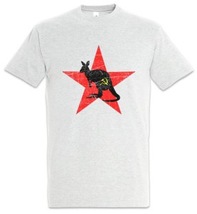 Kangaroo Soviética T-shirt Socialismo Comunismo socialista comunista da União Fun