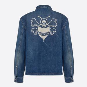 20ss Bee ricamo Giacca di jeans classici Shirts Lavato High-End Primavera Estate Autunno Moda T Shirt Jacket Uomo Donna T HFYMJK321