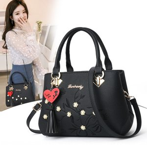 2020 tassel pendant women's messenger Pendant Shoulder shoulder bag wind embroidery Pearl women's bag large capacity PU bags