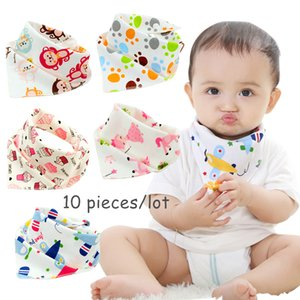 10pieces lot Cotton new Baby babador bandana bibs for babies Scarf boys Girls baby bib burp Cloths Y200710