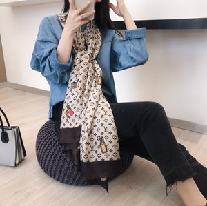 2020 High quality Women Scarf Silk floral Print Scarves Women Letter Thin Design woman Shawls Size 180*90cm Without box ZL034