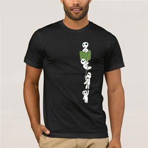 قمم الصيف بارد مضحك تي شيرت مونونوكي FOREST SPIRIT كوداما MANGA ANIME MIYAZAKI القطن تي شيرت 9602 طباعة قميص تي الرجال