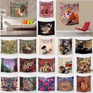 Retro Style Medieval Lady and Unicorn Deer Skull Rose Animal Portrait Art Printing Tapestry Wall Hanging Summer Beach Towel Shawls Yoga Mat