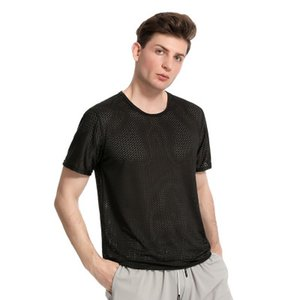Mens Designer T Shirt for Summer Fashion Sports Breathable T Shirts Casual Solid Color Tees Men Active Clothing Size L-4XL