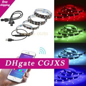 2 * 1m 2 * 50cm Led 스트립 텔레비젼 배경 램프 블루투스의 USB 앱 모바일 전화 컨트롤러 간 -Border 핫 -Selling LED 램프 밴드