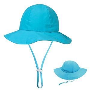 Wide Brim Children Sun Hat Kids Bucket Cap Summer Beach Girls Travel Outdoor New Fashion Cute Casual Sun Hats Camping Hiking Hat