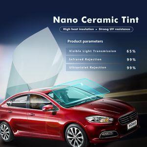 SUNICE Roll Blue Glass Car Auto House Window Tint Tinting Film 65% Visible Light Windshield Sticker Anti-UV Foils 33 65 100ft