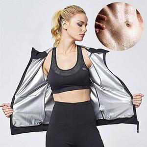 Kadınlar Setleri Kadın Sauna Suit Set Kız Yanık Belly Fat Sıkıştırma Suit Zayıflama Vücut Şekillendirici Pantolon ve Uzun Kollu Ceket Running