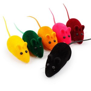 New Little Mouse Toy Noise Sound Squeak Rat Playing Gift Simulation fur mouse Kitten Cat Toys Pet Supplies HH9-2971