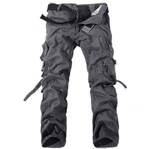 Pantaloni di modo caldo di vendita Abbigliamento Pocket Bandage Mens Cargo Pants solido di colore allentato Raffreddare Men Casual