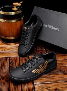 2019l new luxury men's casual shoes, fashion wild sports shoes, lace-up shoes, original packaging delivery 38-45