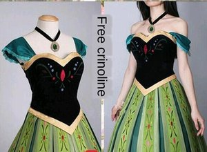 Ice and Snow Adventure Princess Anna Embroidered Dress embroidery cosplay adult female cartoon dress