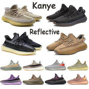 2020 Kanye Asriel Israfil cenere palude uomini riflettenti scarpe da corsa di lino donne Yeshaya yecheil Zyon Oreo lino salvia del deserto allenatore scarpe da ginnastica