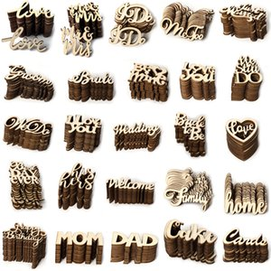 Wooden European and American wedding supplies Valentine's day scene props decorations 15 pieces per Pack wedding supplies wholesale