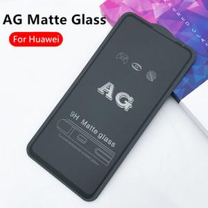 AG Matte 9H Tempered Glass For Huawei Honor 8S 20 Pro 9X V30 30 S X10 Nova7 6 Pro P smart Full Cover Screen Protector Anti-Fingerprint Film